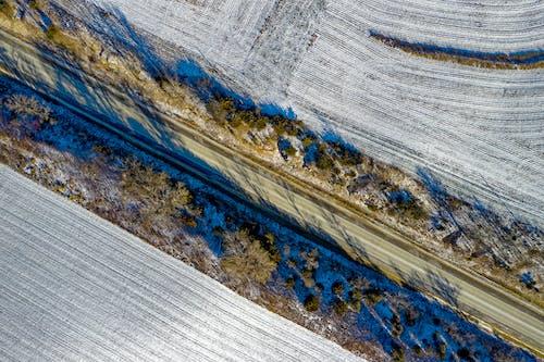 Gratis stockfoto met akkerland, antenne, blauw, boerderij