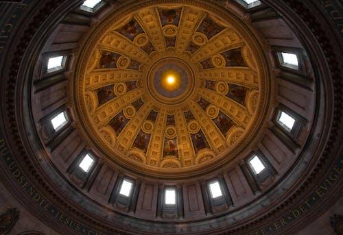 Free stock photo of ceiling, church, copenhagen