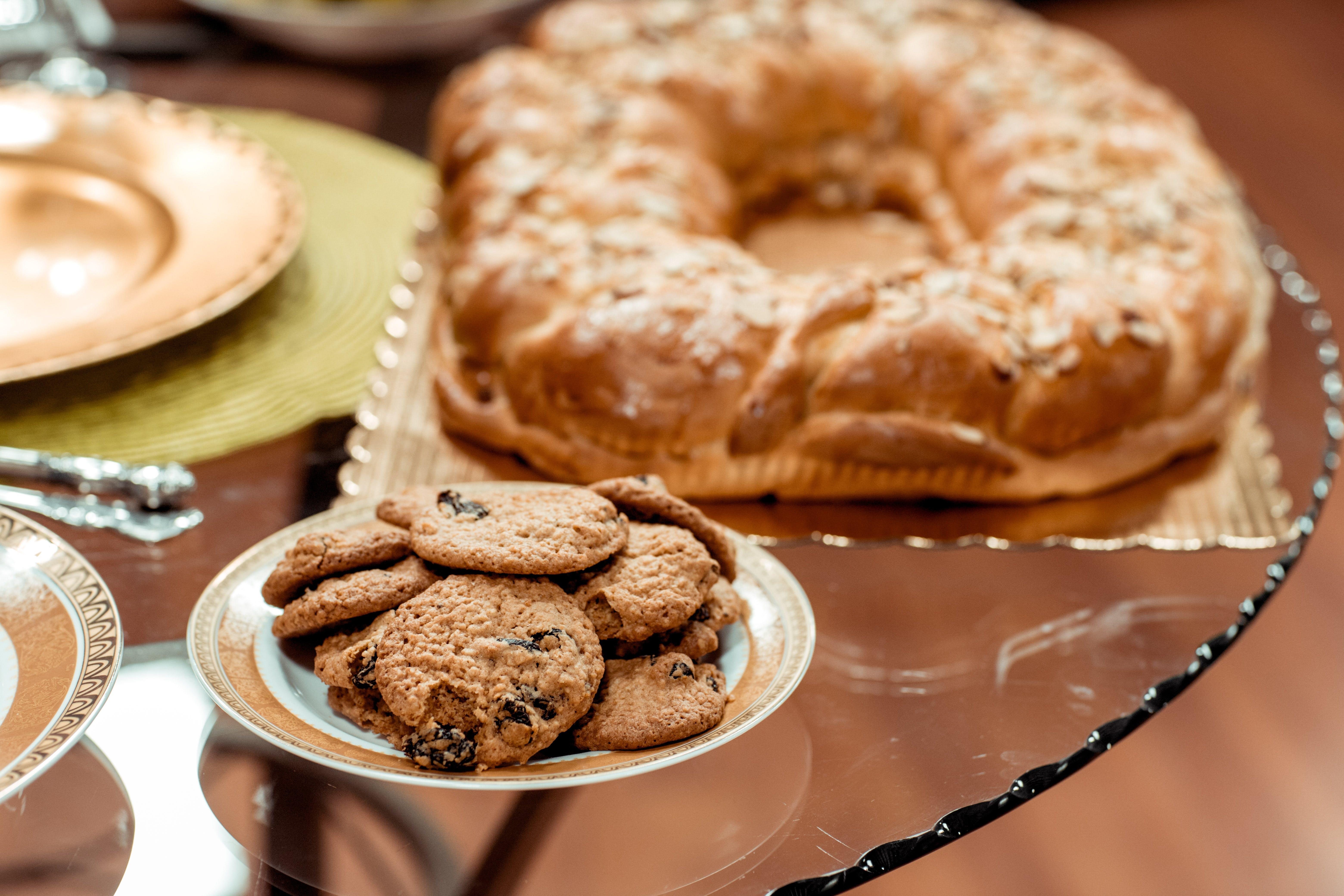 Cookies on Plate on Table