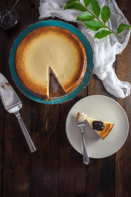 お菓子, ケーキ, チーズケーキ, テーブルの無料の写真素材