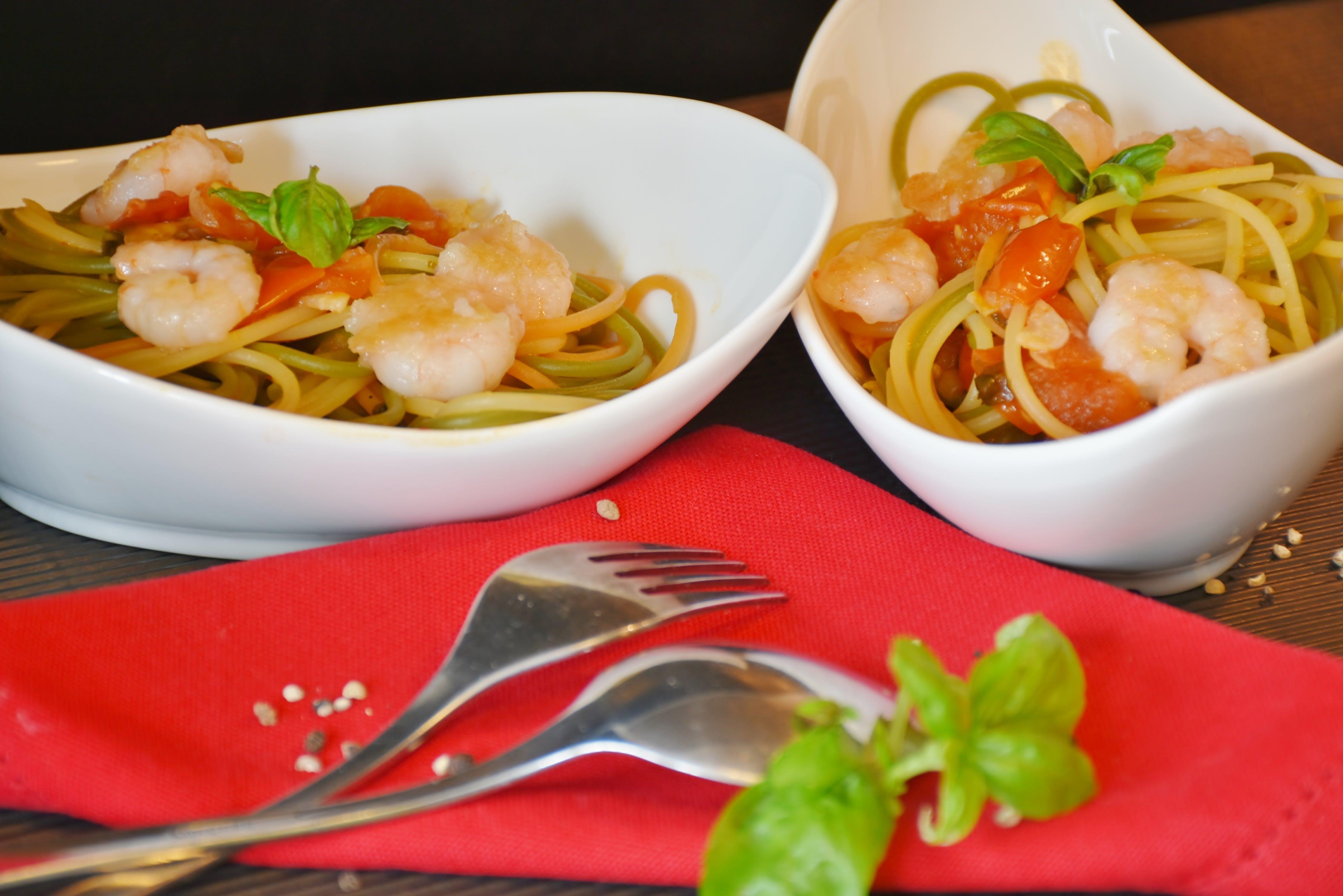 Noodles Top With Shrimp