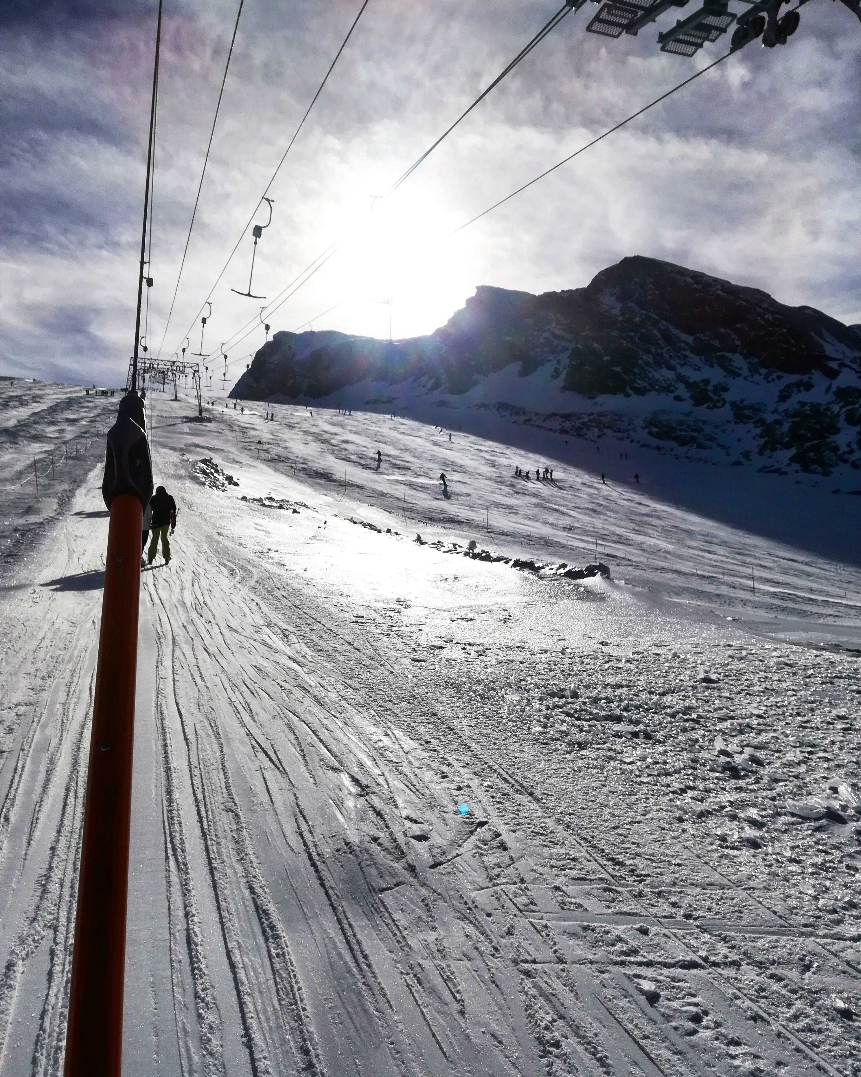 mountains, nature, snow