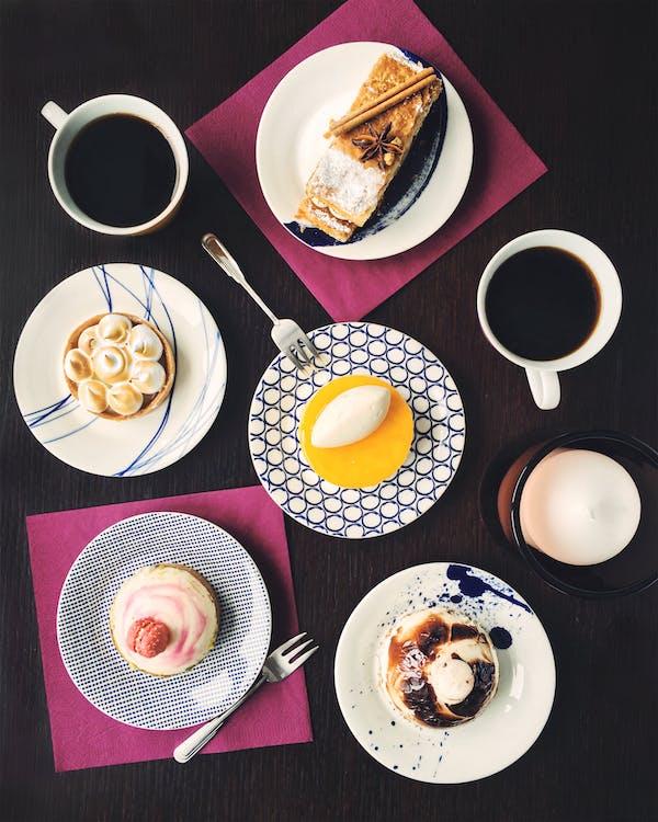 dort, jídlo, káva