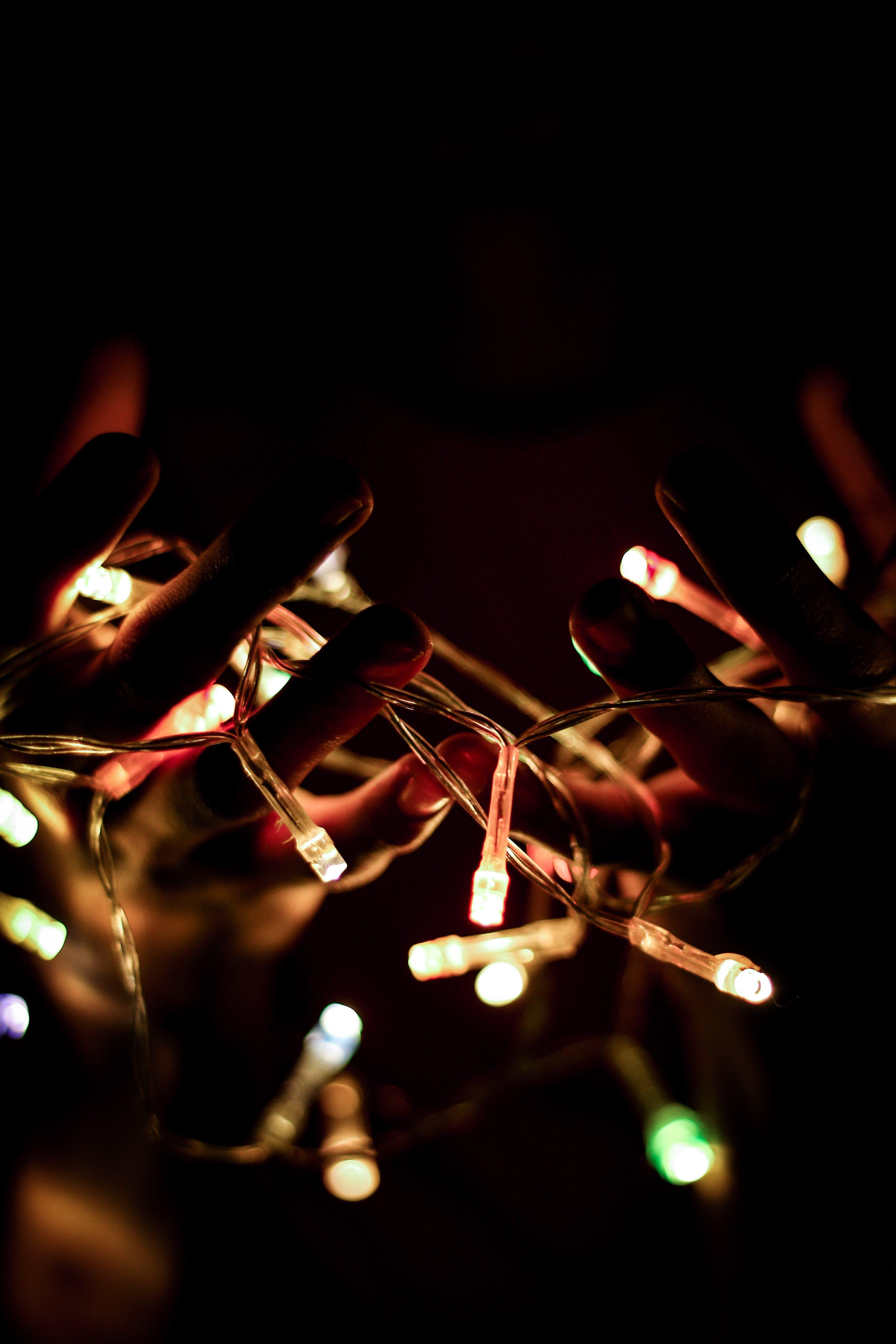 Christmas Lights Turned-on