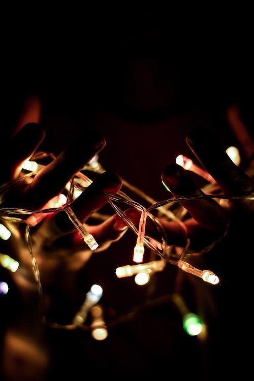 Lumières De Noël Allumées