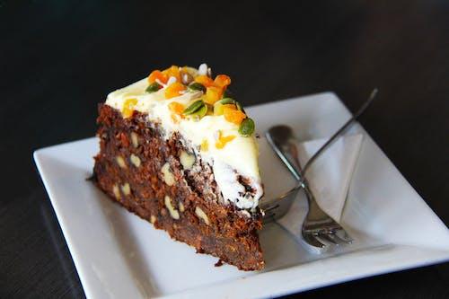 Бесплатное стоковое фото с вилка, вкусный, десерт, еда