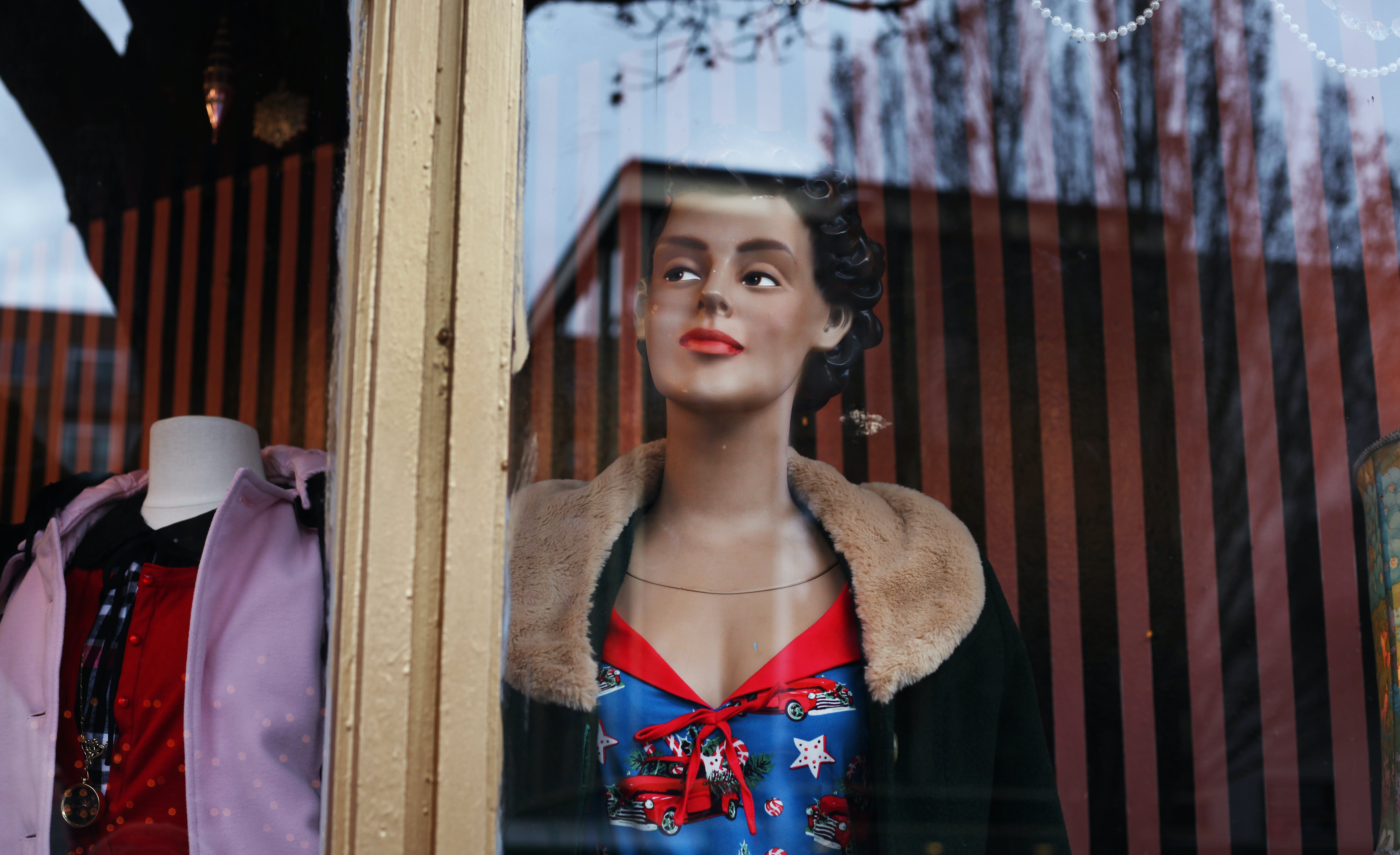 Mannequin On A Store Window