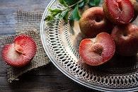 plate, healthy, wood