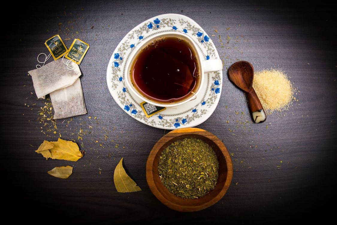 ชา, ดื่ม, ถ้วย