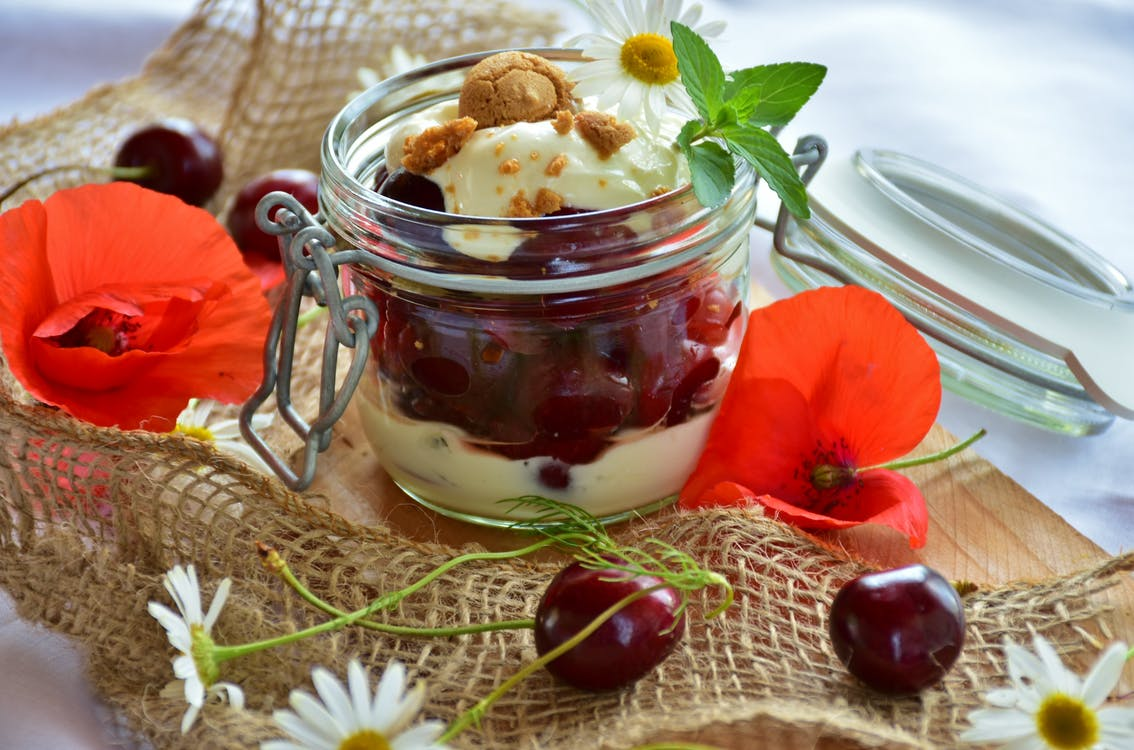 benefit from, cherries, cherry dessert