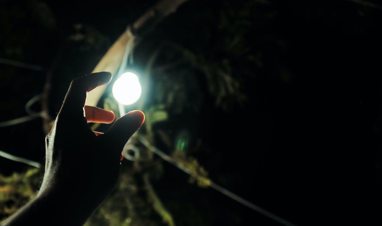 Photo of Man Reaching Light Bulb