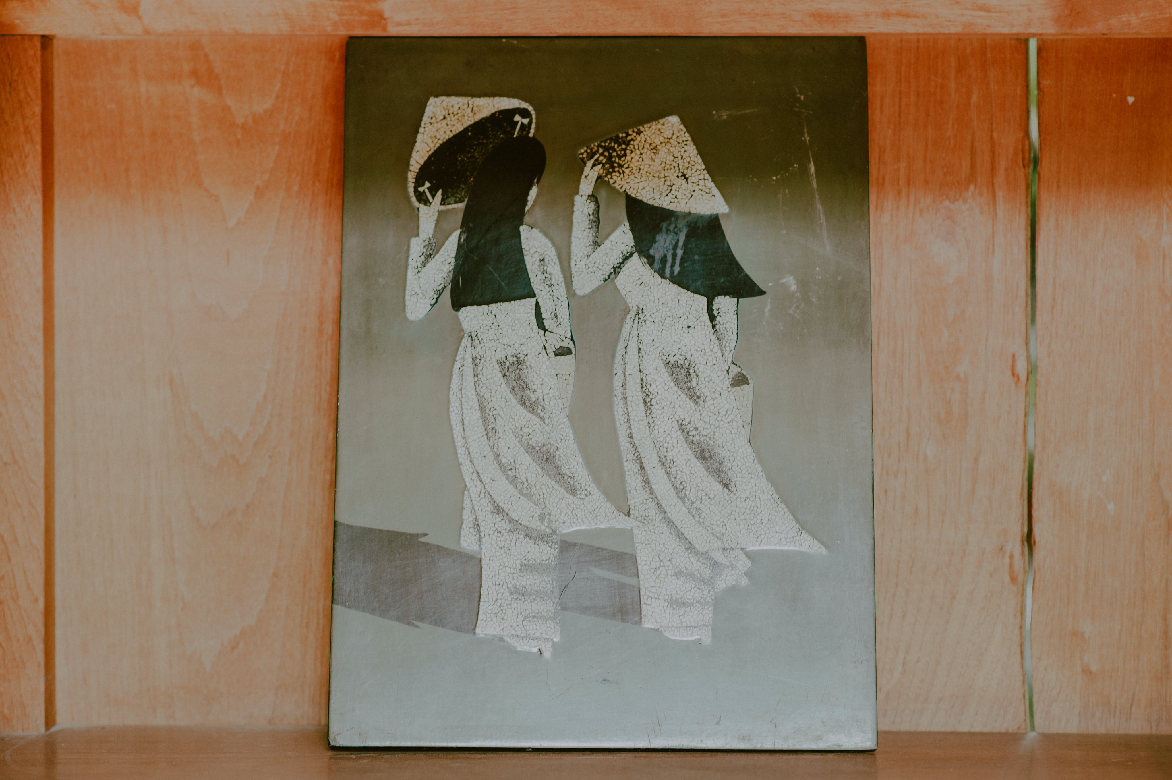 Painting of Two Women Wearing Hats