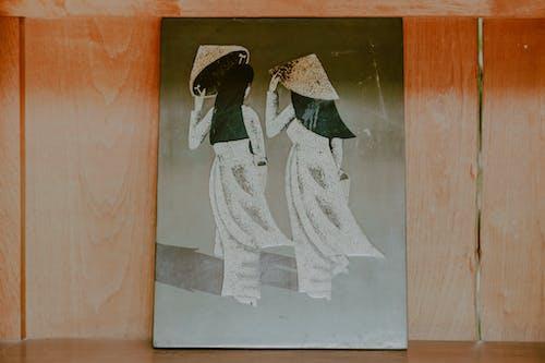 Foto stok gratis bagus, gantungan dinding, lukisan, retro