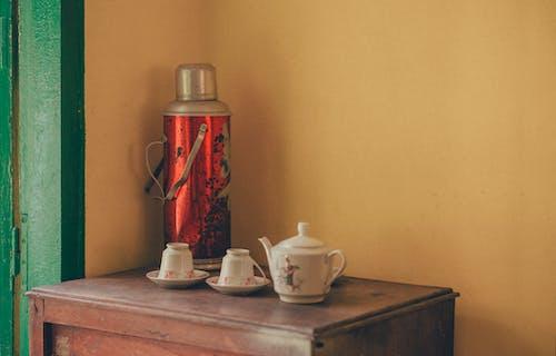 容器, 廚具, 杯, 茶壺 的 免费素材照片