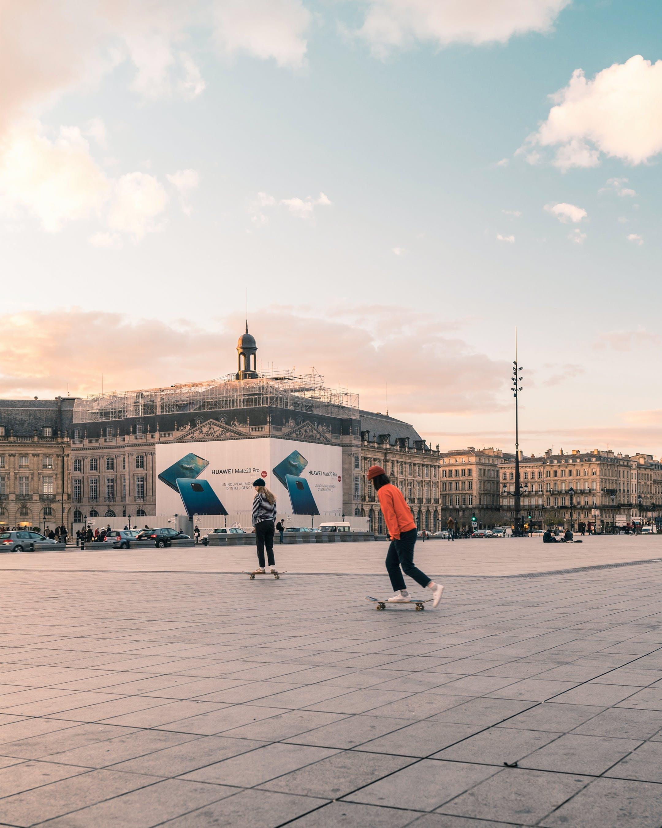 Free stock photo of roller skates, skate, skaters, sunset