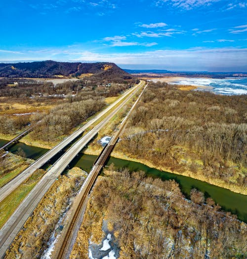 Bird's-eye View Photography of Highway