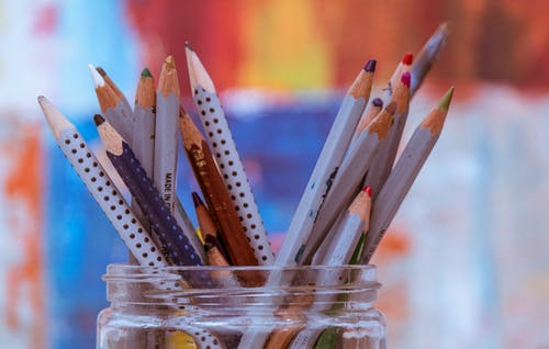 Photo of Coloring Pencils On Jar