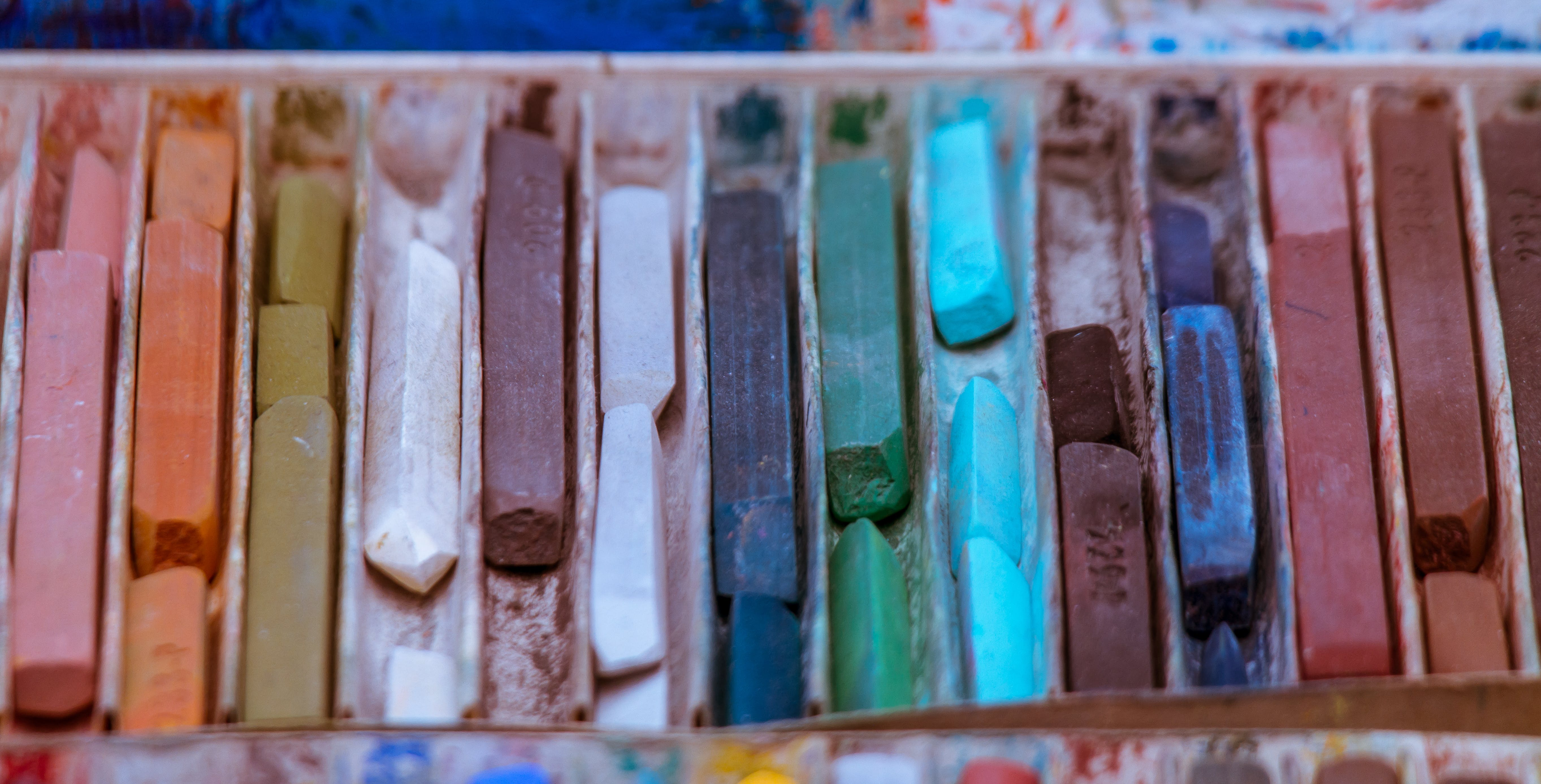 Close-Up Photo of Assorted Color Oil Pastel