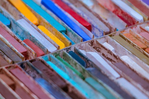 Close-Up Photo of Oil Pastels