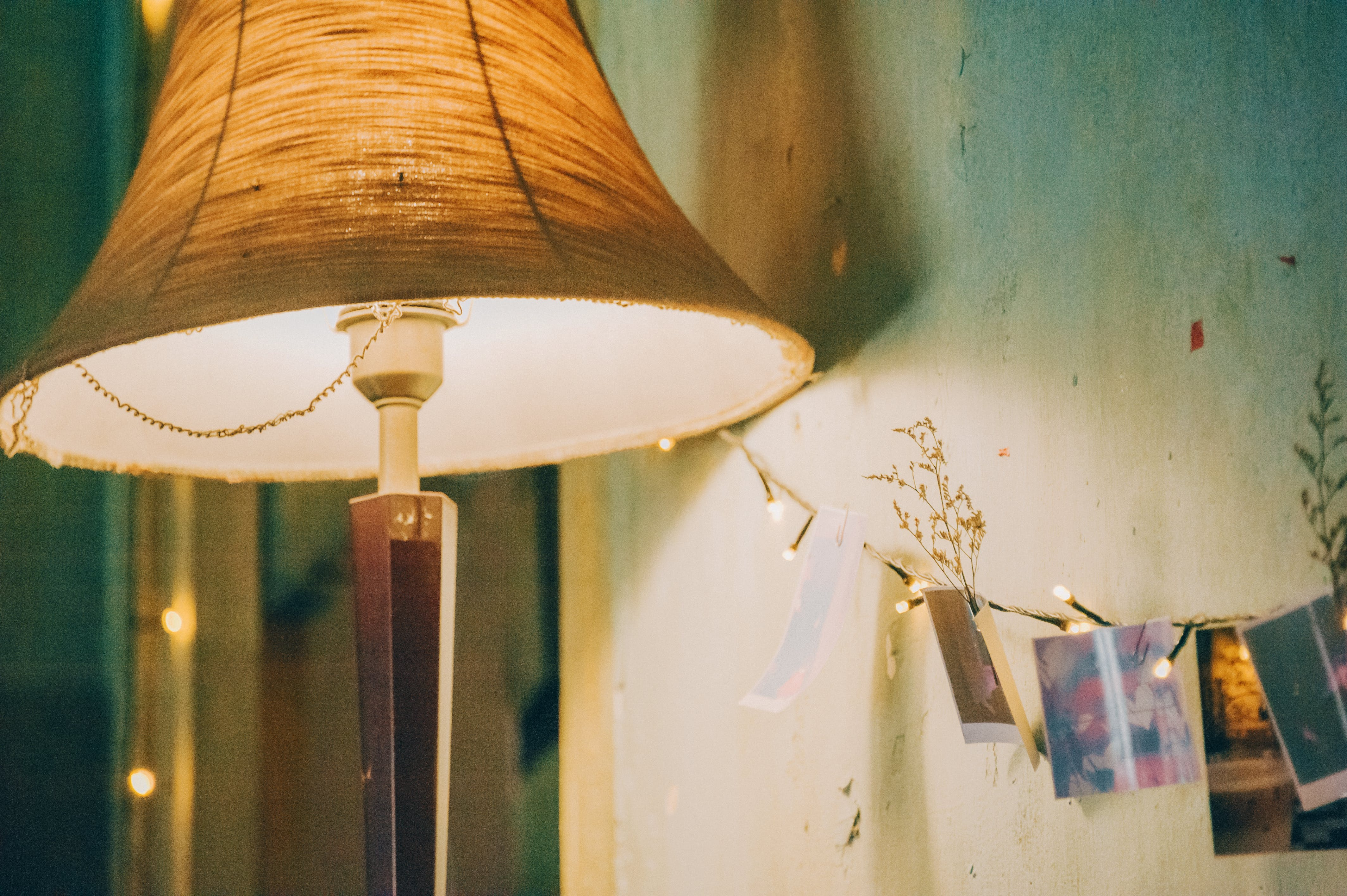 Table Lamp Turned-on