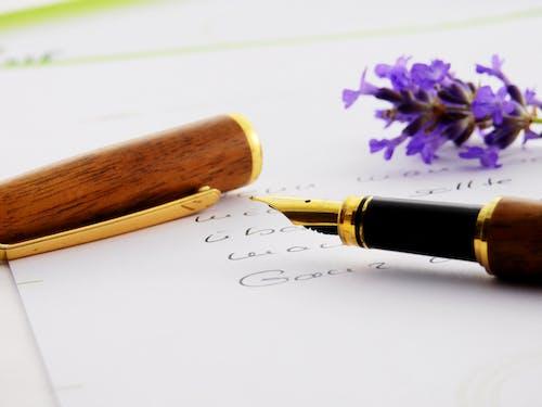 フラワーズ, ペン, 万年筆, 書き込みの無料の写真素材