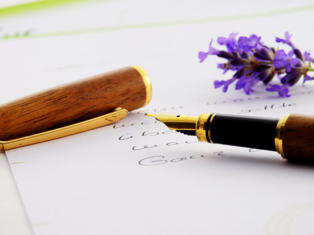 Brass Black Brown Fountain Pen