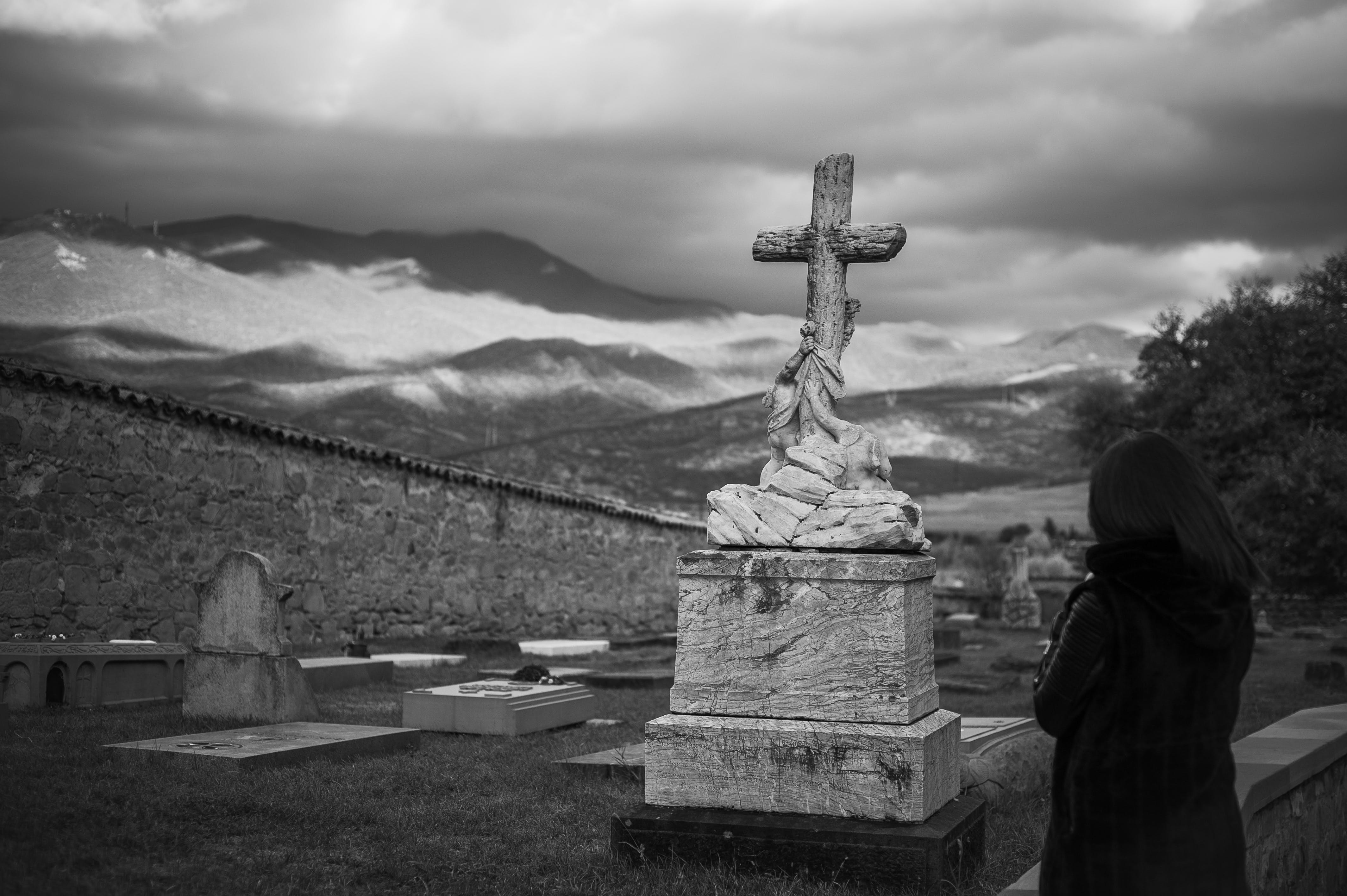 Free stock photo of cross, funeral, graves, gravestones