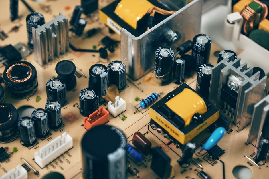 Black Transistor Beside Capacitor
