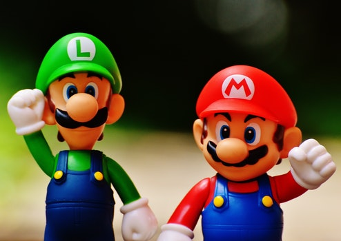 Luigi and Super Mario Figure