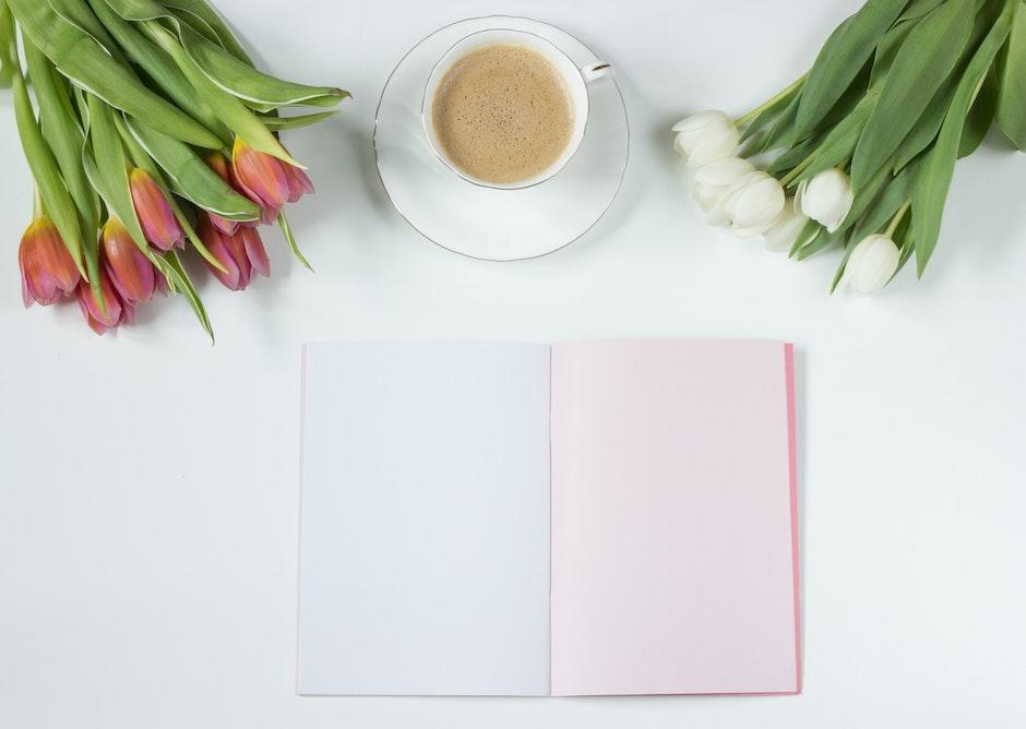 Cafe Latte on a White Ceramic Tea Cup