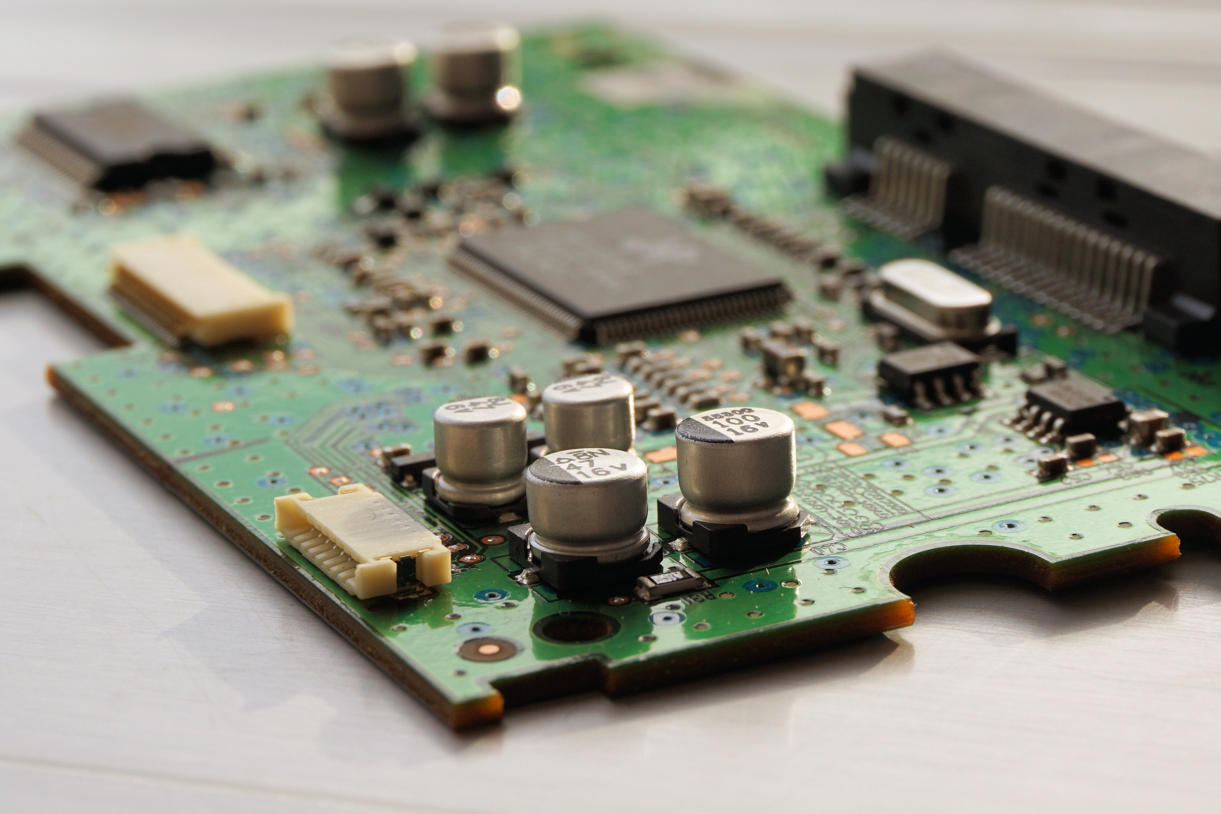 Close Up Photography Of Computer Motherboard Free Stock Photo Printed Circuit Board With Many Electrical Components Download