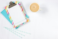 coffee, pencil, colours