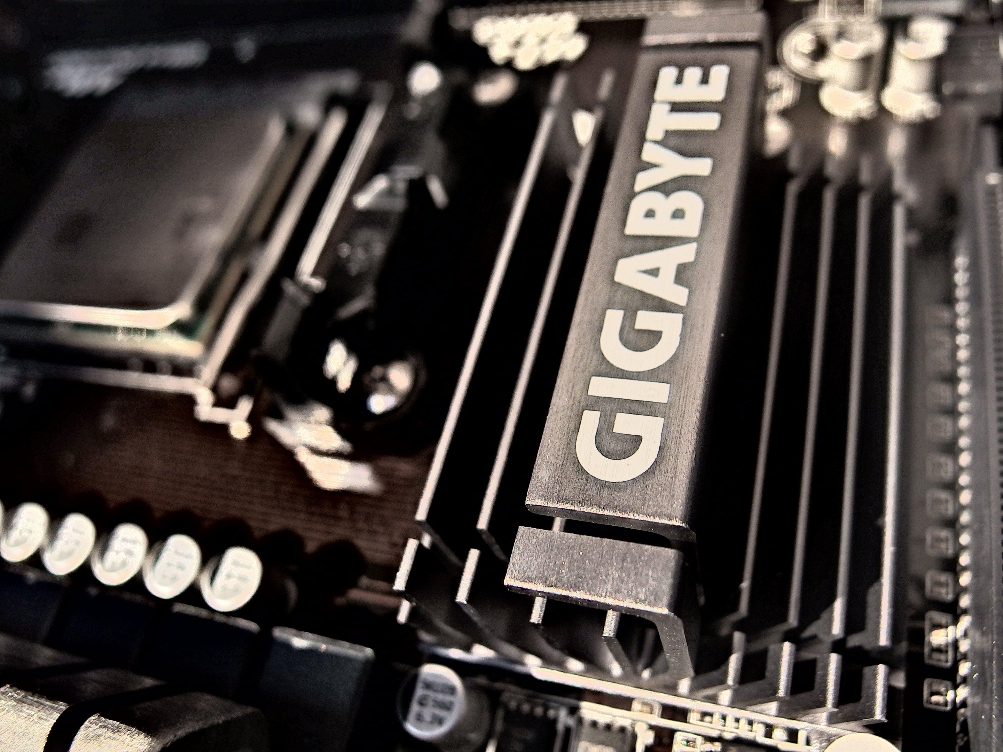 Gratis arkivbilde med cpu, elektronikk, enhet, gigabyte