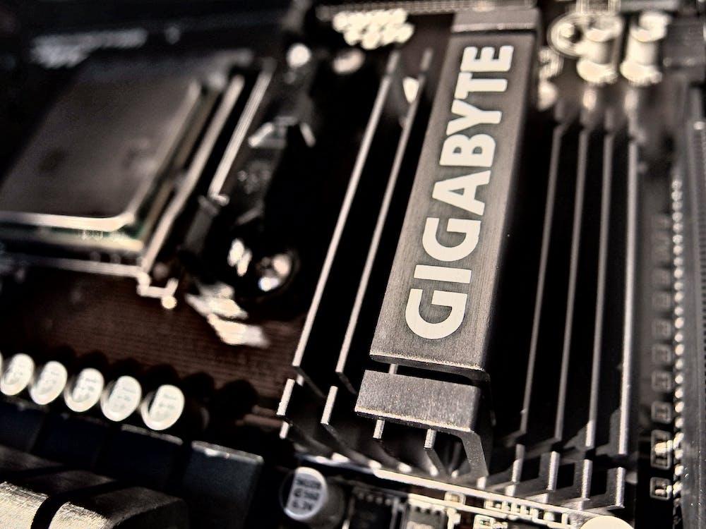 Gigabyte Black Motherboard