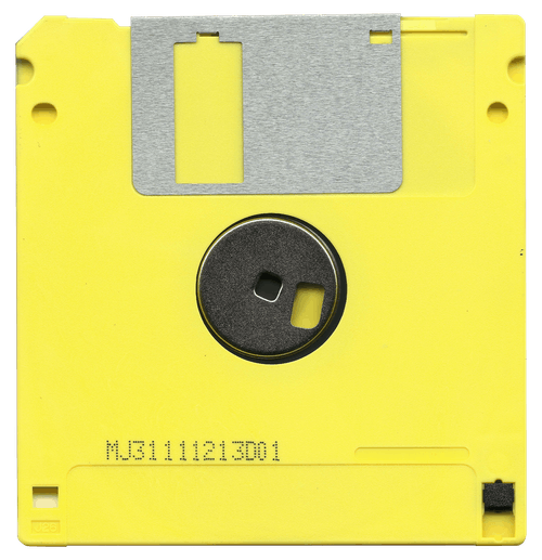 Yellow and Black Diskette Mj31111213d01