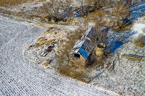 Fotos de stock gratuitas de abandonado, aéreo, agua, árbol