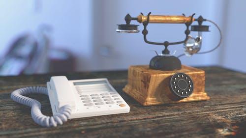Immagine gratuita di banco, comunicazione, oggetto d'antiquariato, telefono