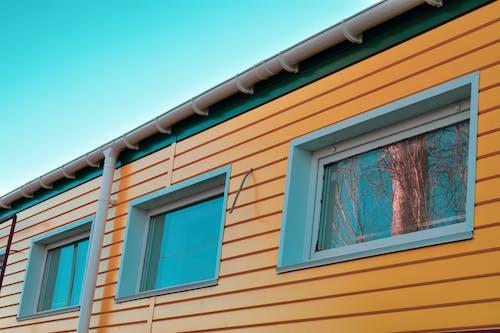 คลังภาพถ่ายฟรี ของ ท้องฟ้า, สีเขียว, สีเหลือง, อาคาร