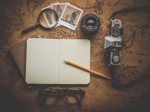 地圖, 放大鏡, 旅行, 旅遊 的 免費圖庫相片