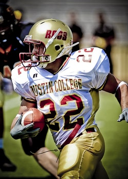 Man in White and Red Austin College 22 Football Jersey during Daytime