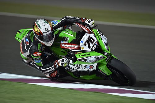 Green and Black #76 Kawasaki Motogp Rider