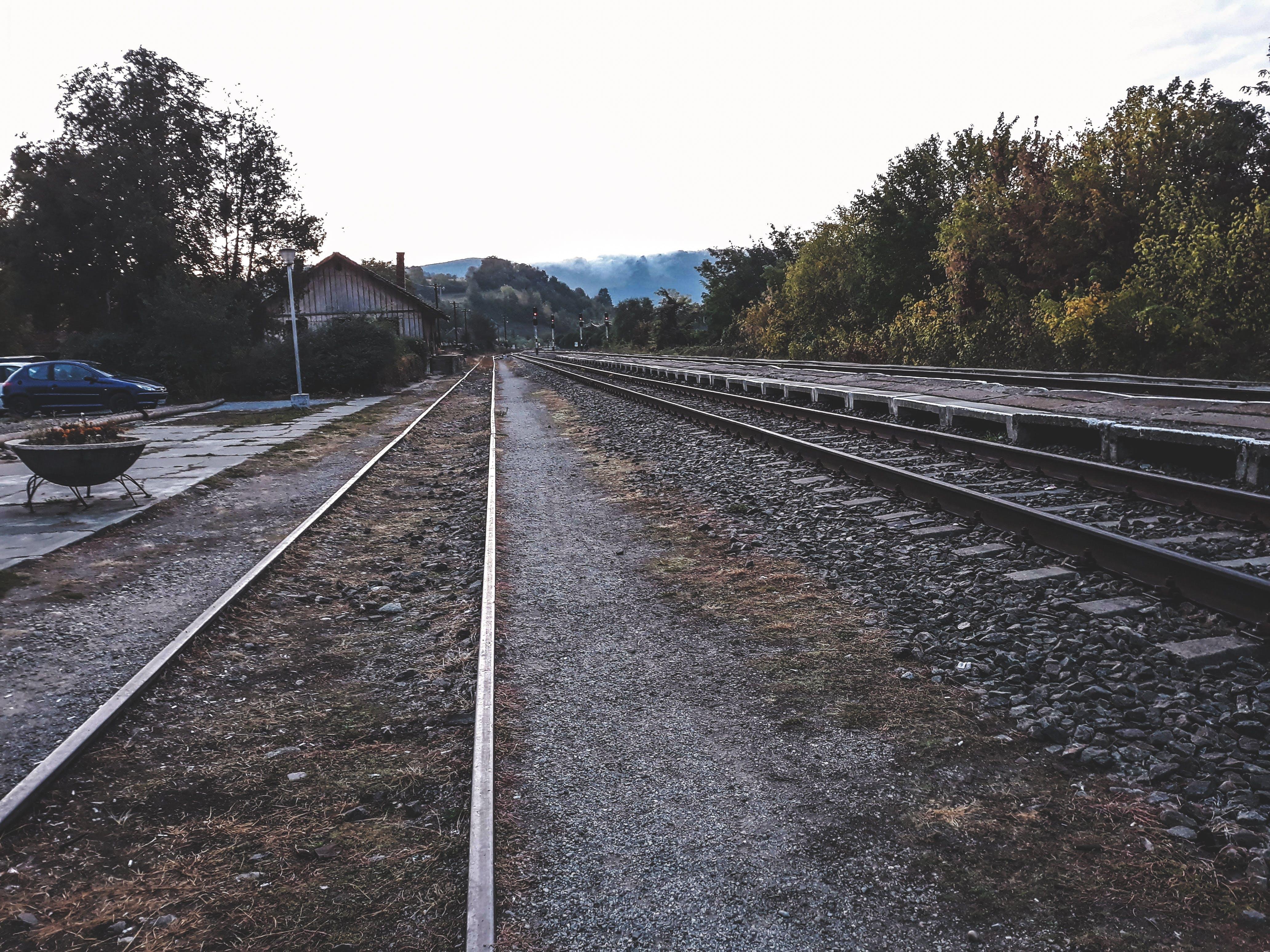 Free stock photo of early morning, rails, train tracks