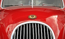 red, car, vehicle