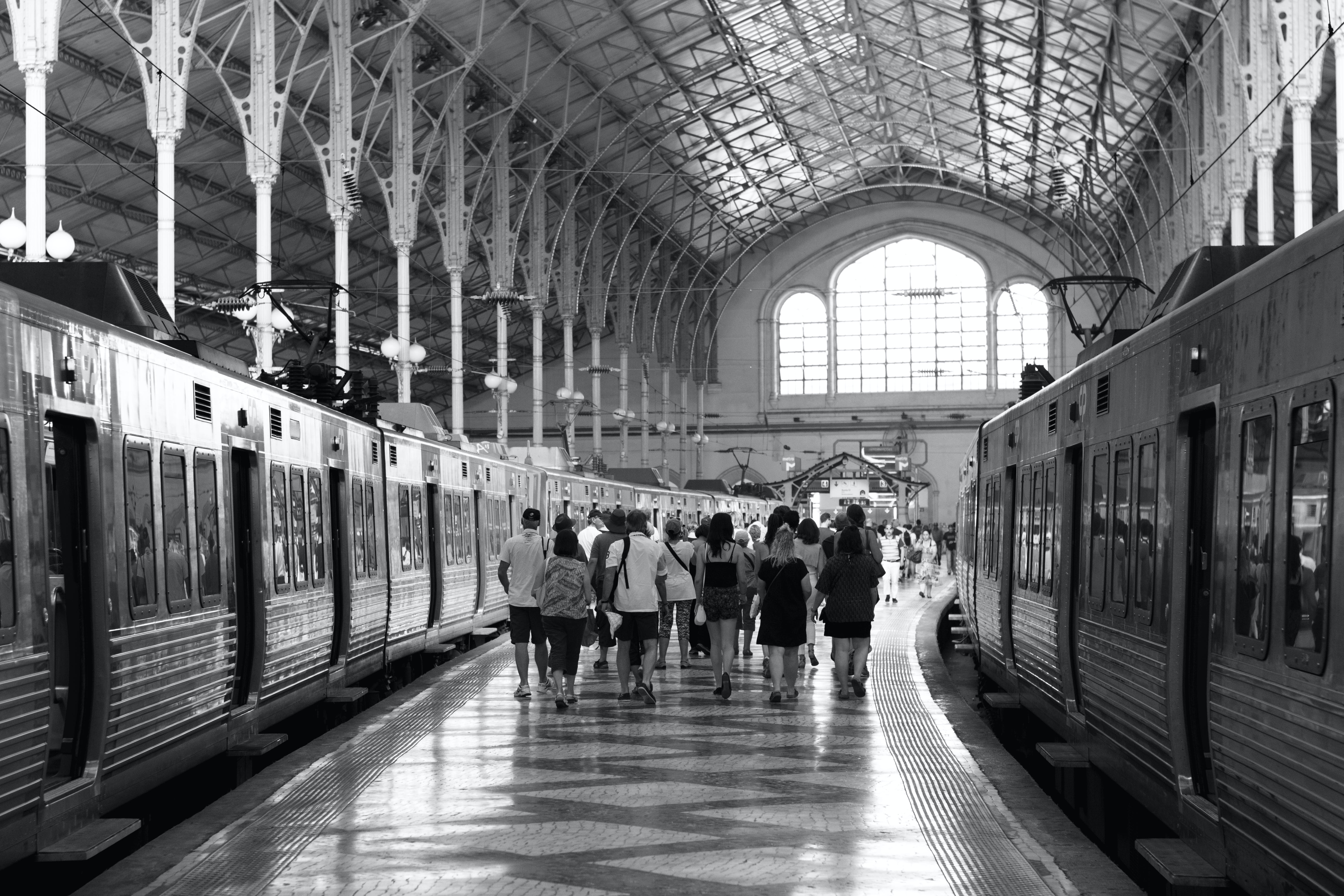 Group of People in Train Station