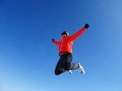 man, jumping, freedom