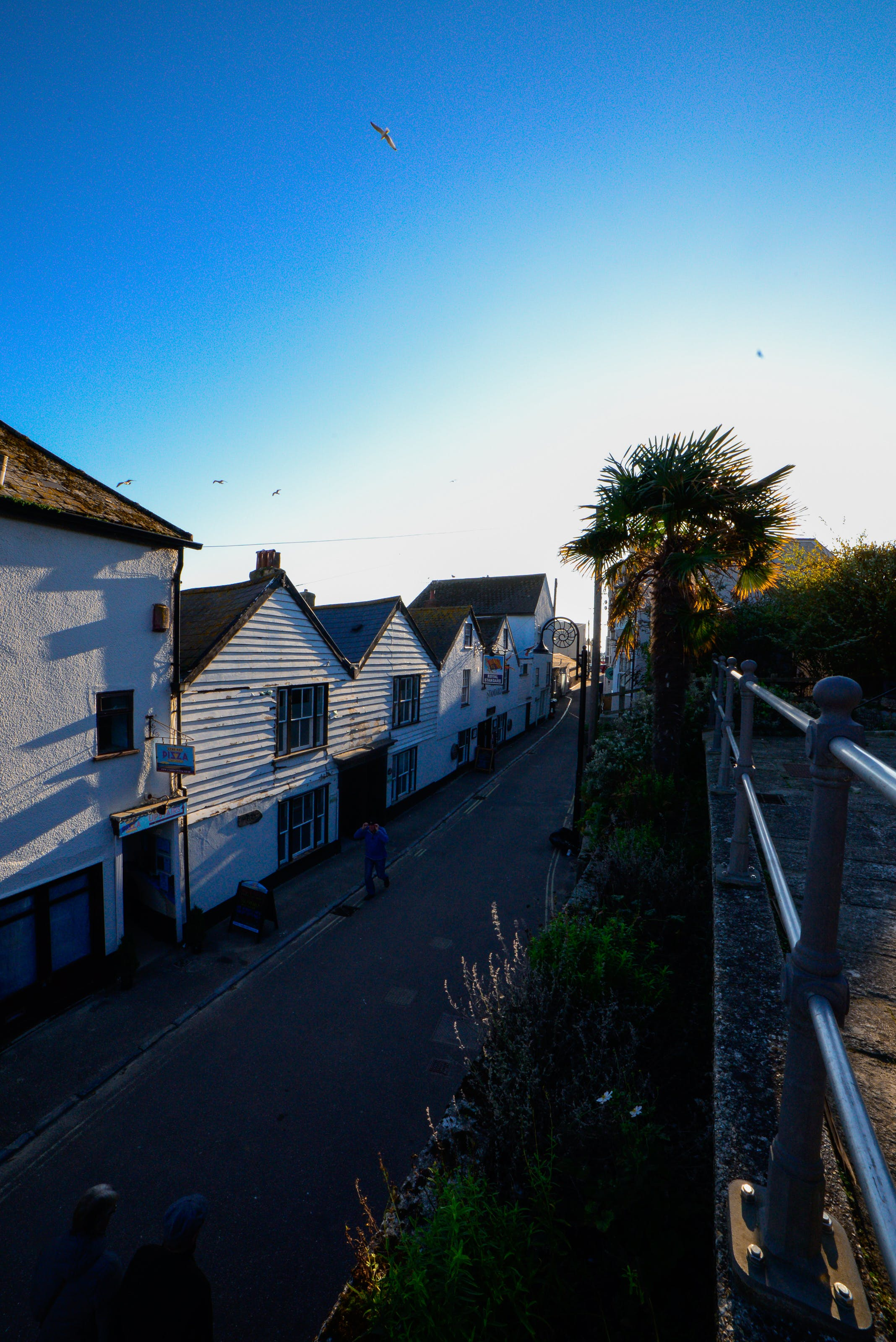 Free stock photo of blue sky, colonial house, footpath, houses