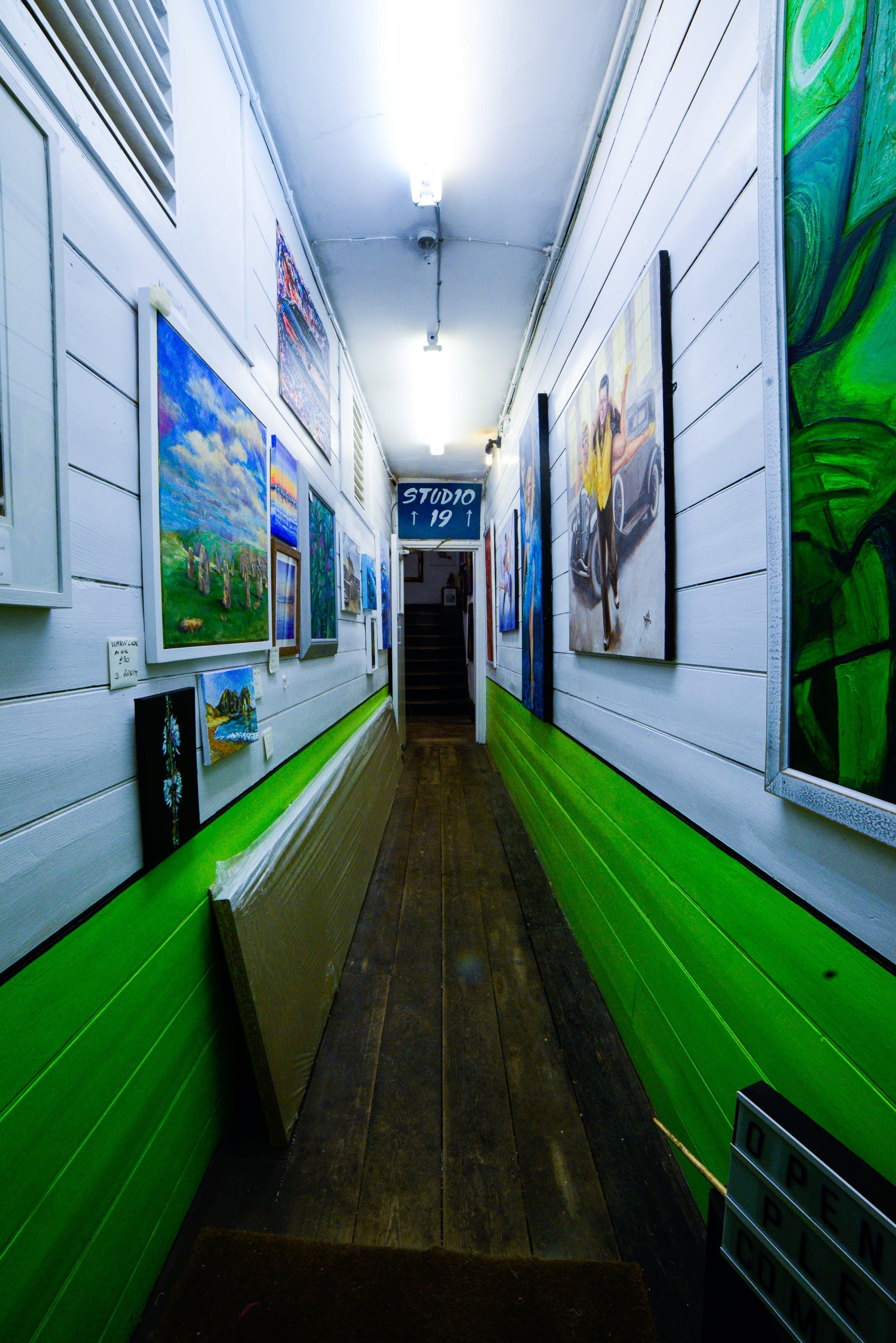 Free stock photo of acrylic paint, studio, tunnel, walls