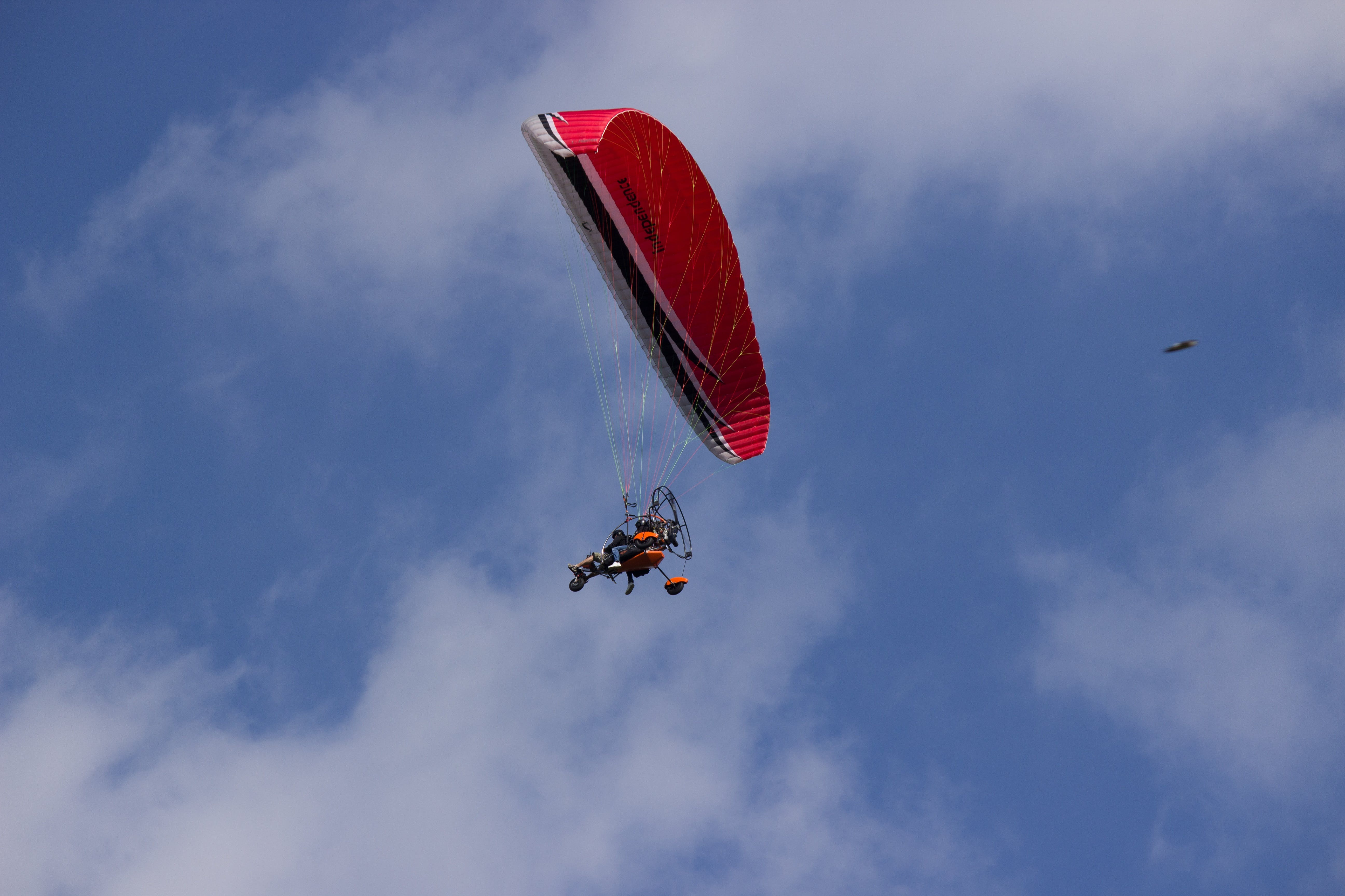 Red and Black Parachute