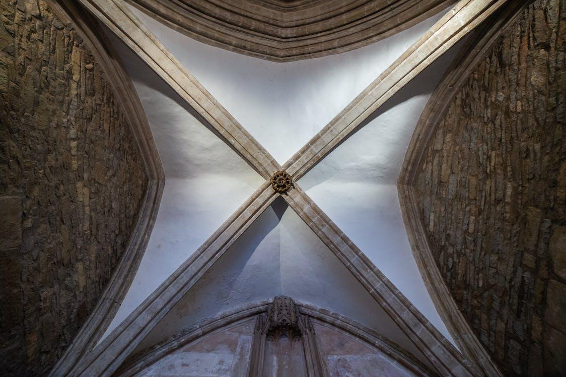 ceiling, church, church building