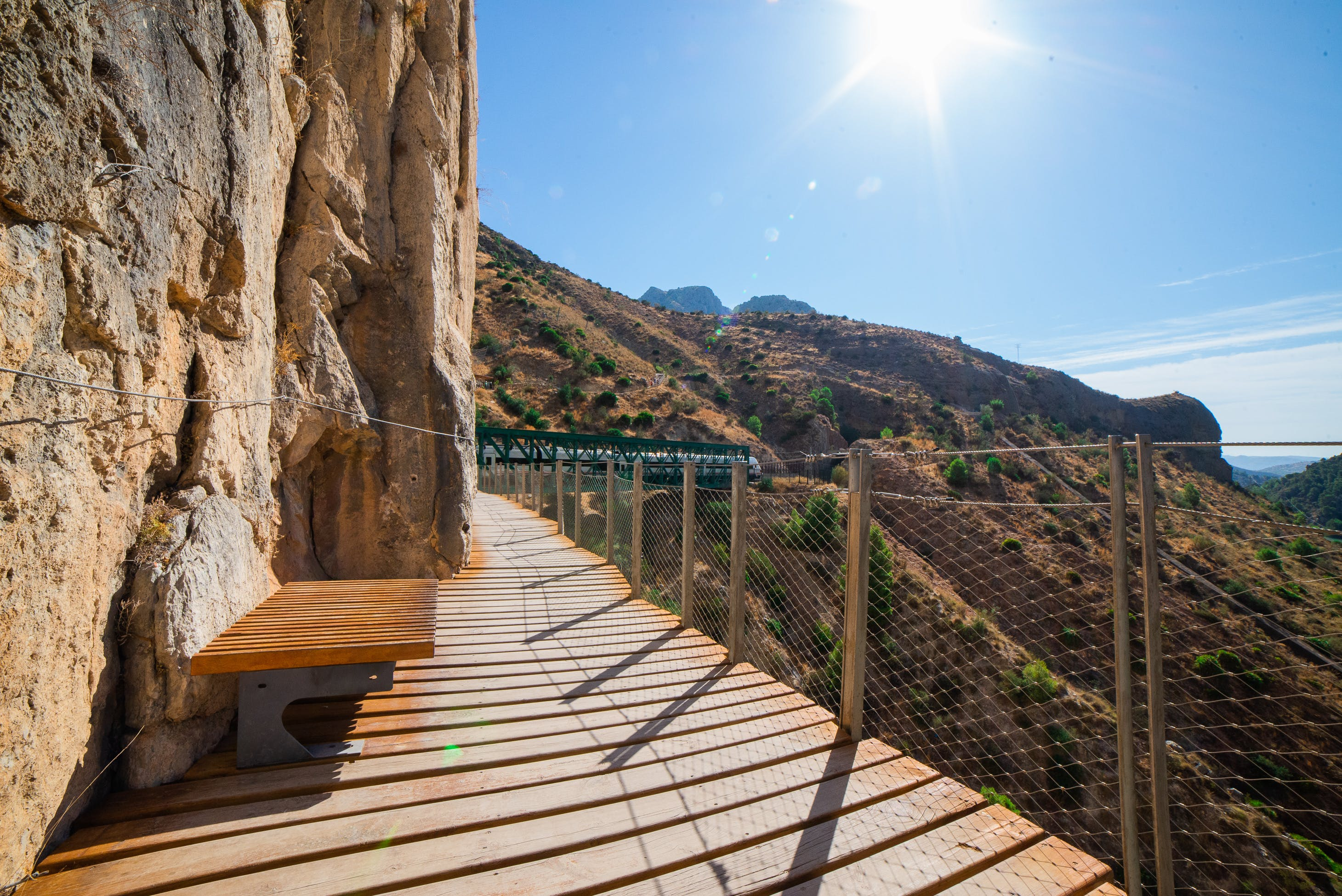Free stock photo of barriers, chair, footpath, golden sun